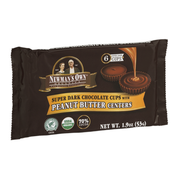 Newman's Own Organics Dark Chocolate Cups With Peanut Butter Centers