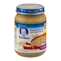 Gerber 3rd Foods Apples & Bananas with Mixed Cereal