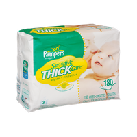Pampers Stages Sensitive Thick Care 3 Refills Baby Wipes - 180 CT