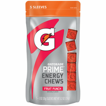 Gatorade Prime Fruit Punch Energy Chews