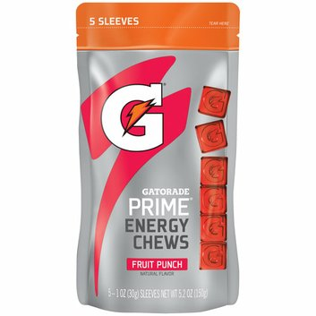 Gatorade Prime Fruit Punch Energy Chews Reviews Find The