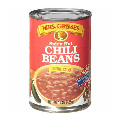 Mrs. Grimes Spicy Hot Chili Beans In Chili Sauce