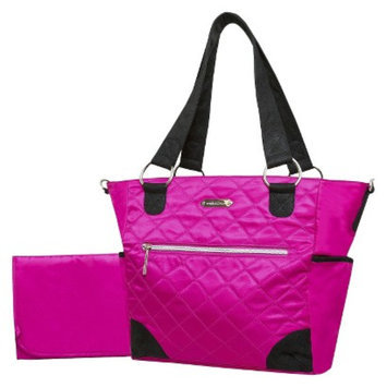 Wendy Bellissimo Quilted Tote Diaper Bag - Fuschia