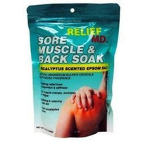 Relief MD Sore Muscle & Back Soak Eucalyptus Scented Epsom Salt - 16 Oz.
