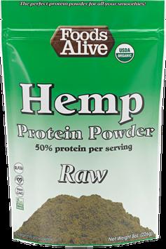 Foods Alive - Organic Raw Hemp Protein Powder - 8 oz.