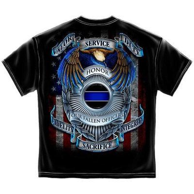 ERazorBits Apparel Honor Our Fallen Officers - Law Enforcement T-Shirt []