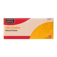 Market Pantry Natural Mild Cheddar Cheese - 8 oz.