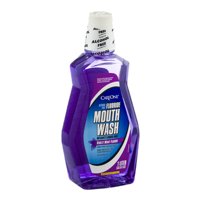 CareOne Fluoride Mouth Wash Violet Mint Flavor
