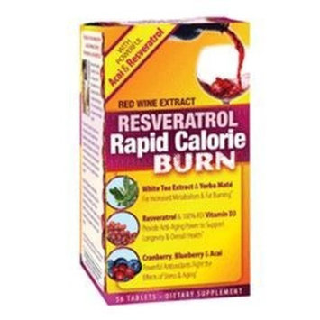 Irwin Naturals Applied Nutrition Resveratrol Rapid Calorie Burn, 56-Count Box