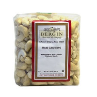 Bergin Nut Company Cashew Whole Raw, 16-Ounce Bags (Pack of 2)