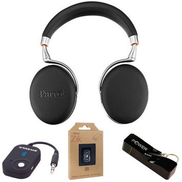 Parrot Zik 3 Wireless Noise Cancelling Bluetooth Headphones (Black) Mobile Bundle