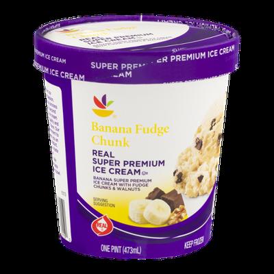Ahold Real Super Premium Ice Cream Banana Fudge Chunk