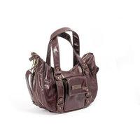Ju Ju Be Ju-Ju-Be Behave Earth Leather Diaper Bag, Brown/Zany Zinnias (Discontinued by Manufacturer)