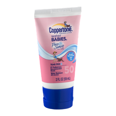 Coppertone Sunscreen Lotion Water Babies Pure & Simple SPF 50