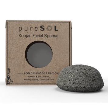 pureSOL Konjac Facial Sponge - Activated Charcoal []