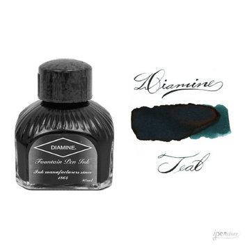 Diamine 80 ml Bottle Fountain Pen Ink, Teal