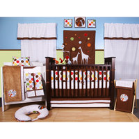 Bacati - Baby & Me 10pc Nursery-in-a-Bag Crib Bedding Set