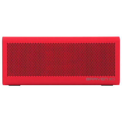 BRAVEN - 805 Portable Bluetooth Speaker - Red/Gray