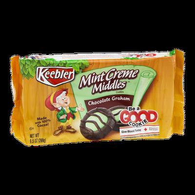 Keebler Mint Creme Middles Chocolate Graham Cookies