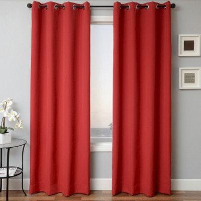 Sunbrella Indoor/Outdoor Window Panel - Jockey Red (52x84