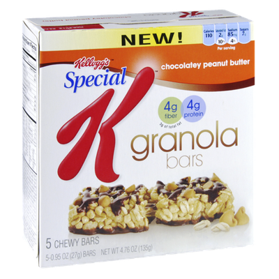 Special K® Kellogg's Chocolatey Peanut Butter Granola Bars