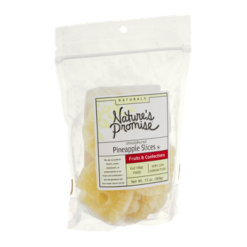 Nature's Promise Naturals Unsulphured Pineapple Slices