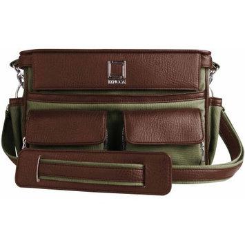 Lencca Coreen SLR Camera Bag, Color Forrest Green & Espresso Brown