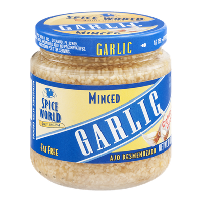 Spice World Minced Garlic California Grown