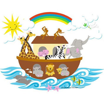 Elephants on the Wall 5-1266 Noah s Ark- Large