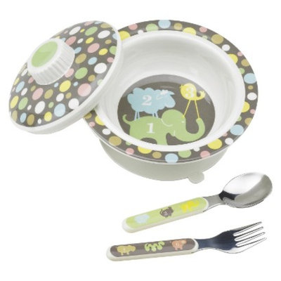 SugarBooger Covered Suction Bowl and Utensil Set - Numbers