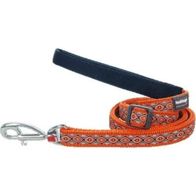 Red Dingo L6-SE-OR-ME Dog Lead Design Snake Eyes Orange Medium