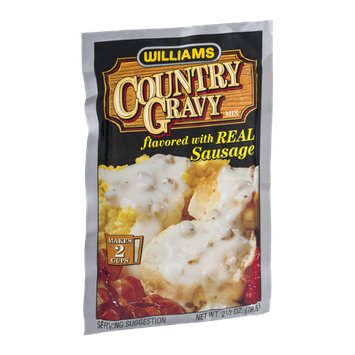 Williams Country Gravy Mix Flavored with Real Sausage