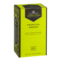 Harney & Sons Wrapped Green Teabags Tropical Green - 20 CT