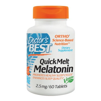 Doctor's Best Quick Melt Melatonin 2.5mg, Tablets, 60 ea