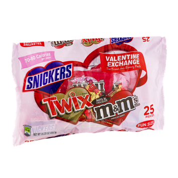 Snickers, Twix & M&M's Fun Size Valentine Exchange