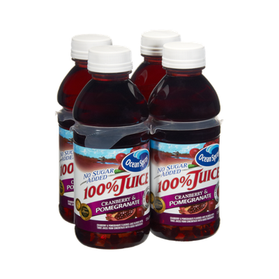 Ocean Spray No Sugar Added Cranberry & Pomegranate 100% Juice - 4 PK