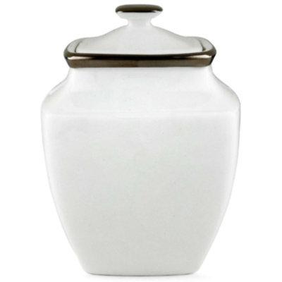 Lenox Solitaire White Square Sugar Bowl
