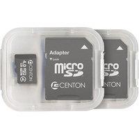 CENTON Centon MP Essential 4GB Class 4 microSDHC Card, 2pk