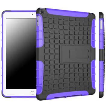 iPad Air 2 Case - roocase [BLOK Armor] iPad Air 2 2014 Hybrid Dual Layer Rugged Case Cover with Kickstand for Apple iPad Air 2 (2014) 6th Generation Latest Model, Purple