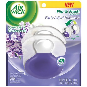 Air Wick Flip and Fresh Lavender and Chamomile, 0.25 Ounce (Pack of 2)