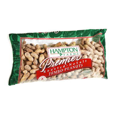 Hampton Farms Premier Roasted No Salt Jumbo Peanuts