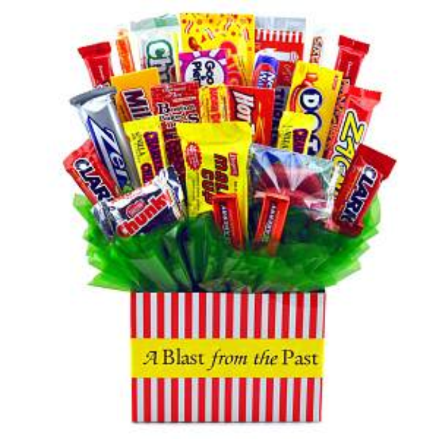 Sweets in Bloom Blast From the Past - Retro Candy Bouquet