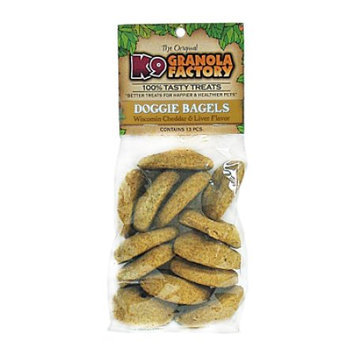 K9 Granola Factory Wisconsin Cheese & Liver Doggie Bagels