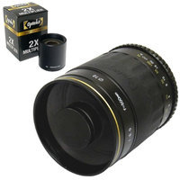 Opteka 500mm / 1000mm High Definition Mirror Telephoto Lens for Pentax K-S1, K-500, K-50, K-30, K5 IIs, K-7, K-5, K-3, K-2, K-X, K20D, K100D, K110D and K10D Digital SLR Cameras