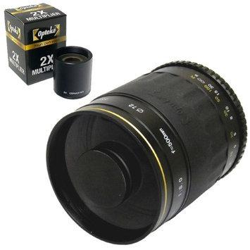 Opteka 500mm / 1000mm High Definition Mirror Telephoto Lens for Olympus Standard Four Thirds Mount Digital SLR Camera