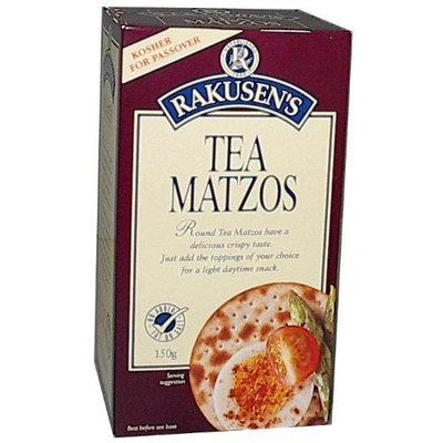 Rakusen Tea Matzo Cracker (Kosher for Passover), 5.29-Ounce Boxes (Pack of 6)