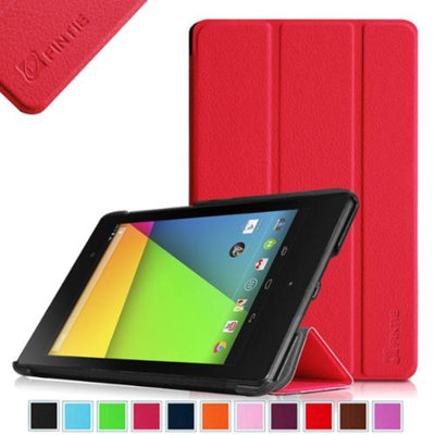 Fintie SmartShell Case for Google Nexus 7 FHD 2nd Gen 2013 Android Tablet with Auto Wake / Sleep, Red