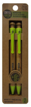 Frontier Natural Foods Frontier Natural Products 227813 Retractable Ballpoint Pens Bamboo & Corn Plastic - Blue