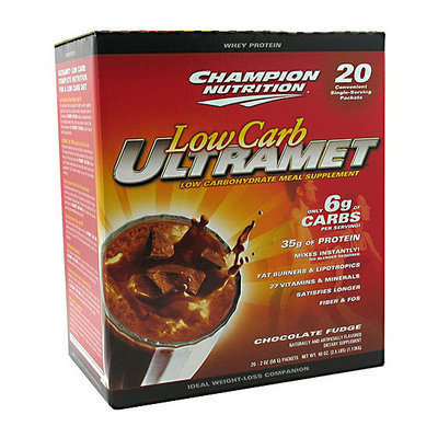 Champion Nutrition Low-Carb Ultramet Chocolate Fudge Drink Mix Powder