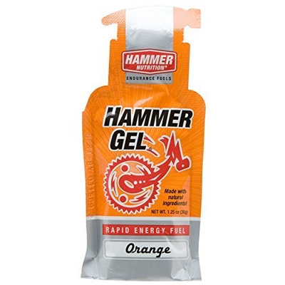 Hammer Gel Rapid Energy Fuel, Single Gel Pouch, Orange
